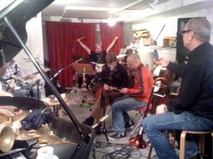 funk unit rehearsing